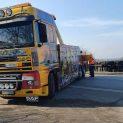 Втори ден разградския екип на тежкотоварна пътна помощ вади катастрофирал камион край Русе