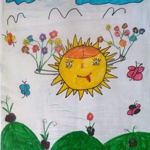 """Деца от МКБППМН-Кубрат рисуваха по случай седмицата на гората за служителите на """"Кубратска гора"""" ООД"""