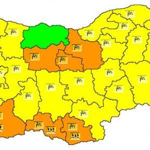 Утре е обявен жълт код за силен вятър в Разградско