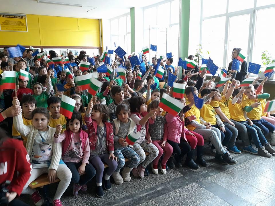 "В ОУ ""Ив. Тургенев"" посрещнаха гости от Италия, Испания, Полша и Турция"