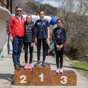 Лекоатлетка от Мъдрево се класира на второ място на Национален шампионат по планинско бягане