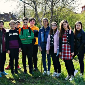 Младежите на БЧК в Кубрат засадиха дръвчета в училище и спортната зала в града