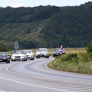 Участък от пътя Разград-Русе е в ремонт, движението е в една лента